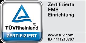 TÜV-Zertifikat EMS-Lounge Würzburg