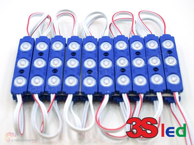 2835 1,2W Mavi Mercekli Enjeksiyon Modül Led