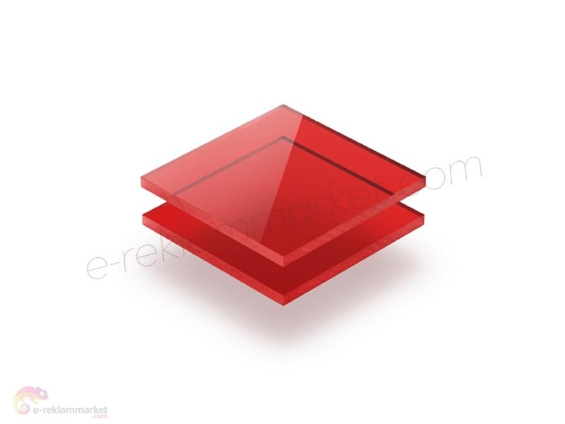 Transparan Kırmızı Pleksi 2090