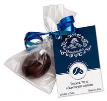 Cokolada chocolatehill tmava s kavovym zrnem