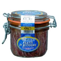 Ancovicky filety ve slunecnicovem oleji 230g carlino