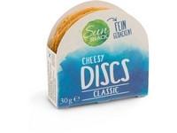 7232 sun snack cheesy discs classic 30g