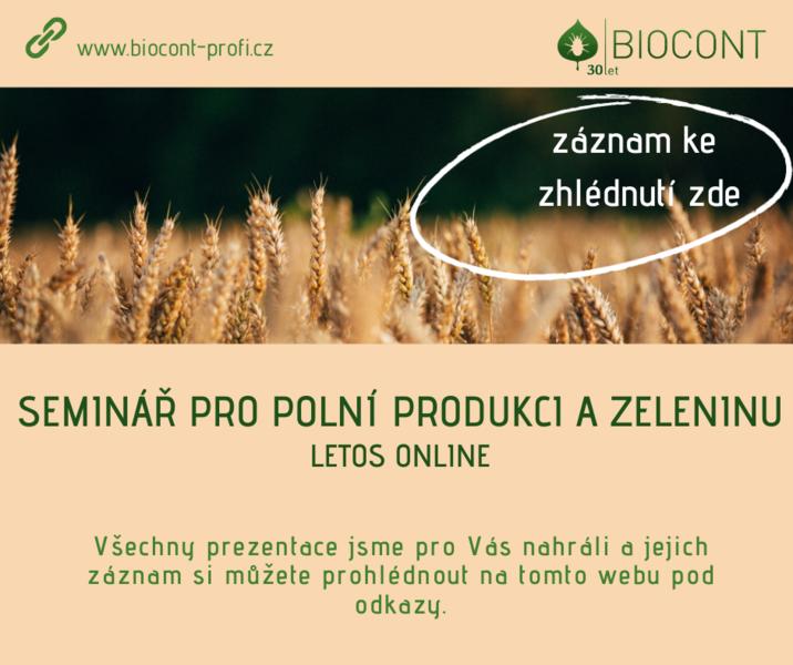 Záznam Semináře pro polní produkci a zeleninu 2021