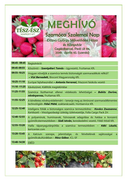 Szamóca Szakmai Nap április 10-én