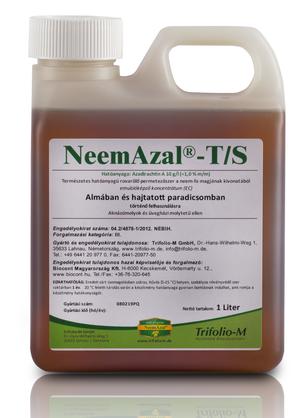 Neemazal - A kártevők táplálkozását blokkoló, vedlésgátló és rovartermékenységet csökkentő hatású rovarölő szer