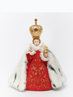 Pražské Jezulátko porcelánové oblečené 34,5cm / 13.58in - královské