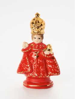 Infant Jesus of Prague Ceramic – Piccolo 6cm/2.36in