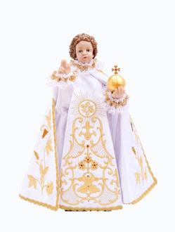 Pražské Jezulátko pryskyřicové oblečené – Kopie 48cm/18.89in - bílé - vzor IHS
