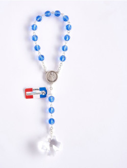 Swarovski Crystal Infant Jesus Chaplet – Blue