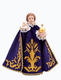 Pražské Jezulátko pryskyřicové oblečené – Kopie 48cm/18.89in - fialové - vzor Klasy