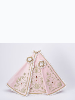 Dress 39cm / 15.35in (designed for Wooden Infant Jesus of Prague Statue 52cm / 20.47in) – Pink