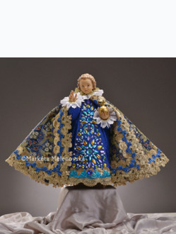 Art Dress 43cm / 16.93in (Designed for Infant Jesus Wooden Statue 52cm / 20.47in) - Blue / Green Collection