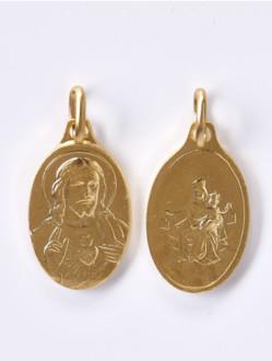 Škapulíř - medailka kovová - žlutá