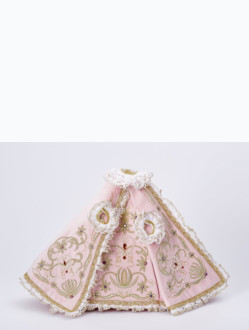 Šaty 21cm / 8.27in (na sošku Pražského Jezulátka porcelánovou 34,5cm / 13.58in a pryskyřicovou 24cm / 9.45in) - růžové