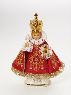 Infant Jesus of Prague Ceramic Clothed – Micro 16cm/6.30in