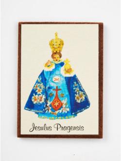 Magnetic Infant Jesus Pen-and-Ink - Blue