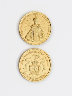 Infant Jesus/Coat-of-Arms Brass Coin