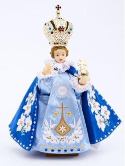 Pražské Jezulátko pryskyřicové oblečené 37,5cm/14.76in - Karmel