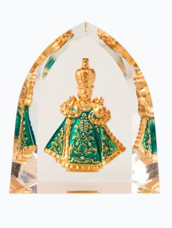 Křišťálový stojánek gotický – zelený