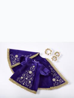 Šaty 26cm / 10.24in (na dřevěnou sošku Pražského Jezulátka 35cm / 13.78in) – fialové