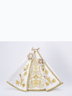 ! SALE! Dress 35cm / 13.78in (designed for Porcelain Infant Jesus of Prague Statue 57cm / 22.44in) - White - Design IHS (original price € 256.00 )