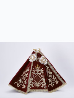 Dress 35cm / 13.78in (designed for Porcelain Infant Jesus of Prague Statue 57cm / 22.44in) - Burgundy