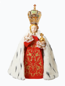 Pražské Jezulátko porcelánové 57cm / 22.44in - královské
