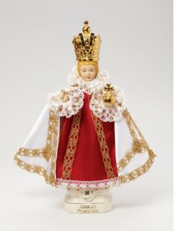 Pražské Jezulátko keramické oblečené – střední 37cm/14.56in - královské