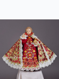 Art Dress 43cm / 16.93in (Designed for Infant Jesus Wooden Statue 52cm / 20.47in) - Red Collection