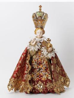 Šaty umělecké 35cm / 13.78in (na sošku Pražského Jezulátka porcelánovou 57cm / 22.44in) - kolekce červená