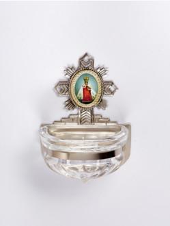 Kropenka kovová s Pražským Jezulátkem - malá č. 6 - stříbrná