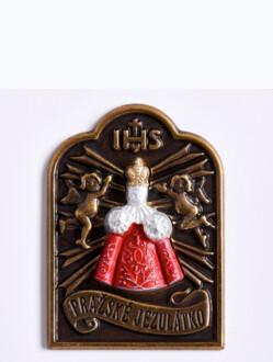 Magnetický štítek Jezulátko - bronzový - červená postavička