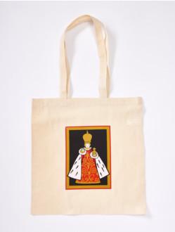 Bavlněná taška s Jezulátkem - krémovo-černá