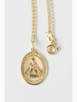 Medailka stříbrná pozlacená - Pražské Jezulátko - oválná s řetízkem
