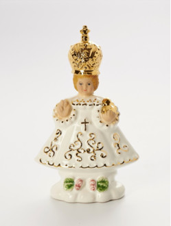 Infant Jesus of Prague Ceramic - Small 12cm/4.72in