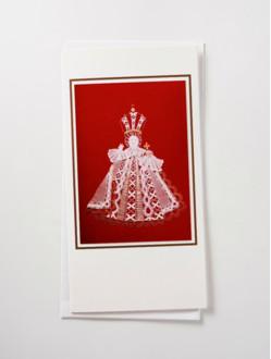 Přání Pražské Jezulátko paličkované - foto – červené
