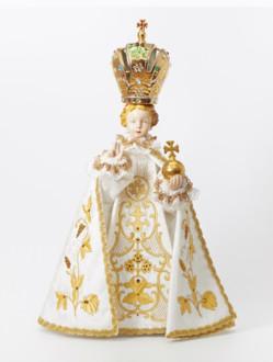 Pražské Jezulátko porcelánové 57cm / 22.44in - bílé - vzor IHS