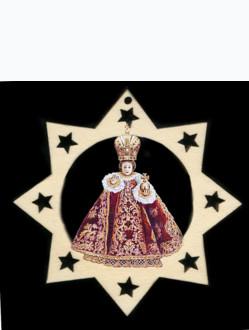Ozdoba s Pražským Jezulátkem - hvězda