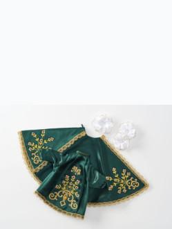 Šaty 14cm / 5.51in (na pryskyřicovou sošku Pražského Jezulátka 19cm / 7.48in) - zelené