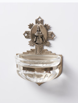 Kropenka kovová s Pražským Jezulátkem - malá č. 6 - reliéf