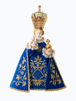 Pražské Jezulátko porcelánové 57cm / 22.44in - modré