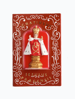 Infant Jesus of Prague Metal-Tin Magnetic – Small 4cm/1.57in
