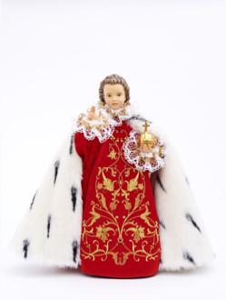 Pražské Jezulátko dřevěné oblečené 52cm/20.47in - královské