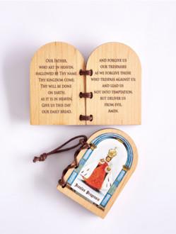 Diptych malý s Pražským Jezulátkem a modlitbou Otče náš - anglicky