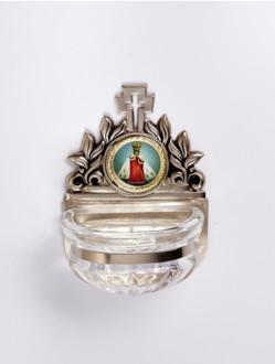 Kropenka kovová s Pražským Jezulátkem - malá č. 5 - stříbrná