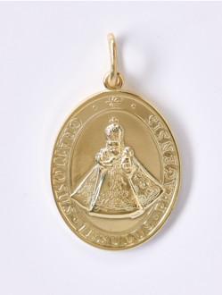 Medailka Stříbrná Pozlacená - Pražské Jezulátko - Oválná