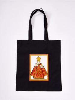Bavlněná taška s Jezulátkem - černo-bílá