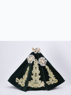 Dress 39cm / 15.35in (designed for Wooden Infant Jesus of Prague Statue 52cm / 20.47in) – Green - Design Maria Theresia