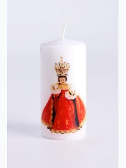 Medium Printed Candle - Red
