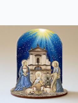 Wooden Nativity / Infant Jesus of Prague Church - Big